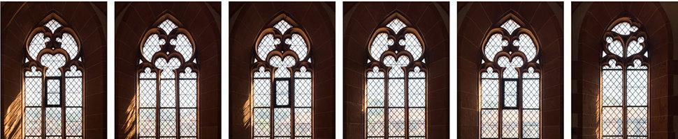 Bildausschnitt: Fenstermaßwerke (Heiliggeistkirche - Südempore); Quelle: Altstadtgemeinde/Foto: Dr. Manfred Schneider