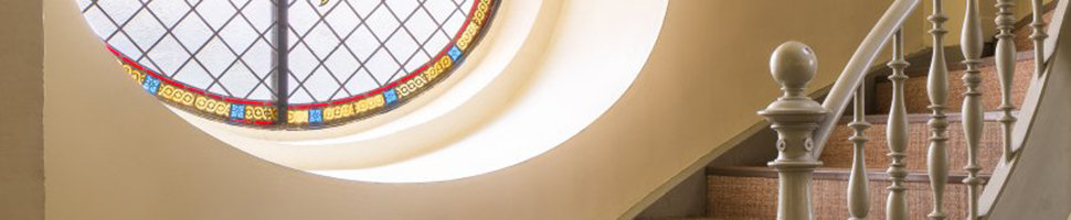 Bildausschnitt: Aufgang zur Empore in der Providenzkirche; Quelle: Altstadtgemeinde/Foto: Dr. Manfred Schneider